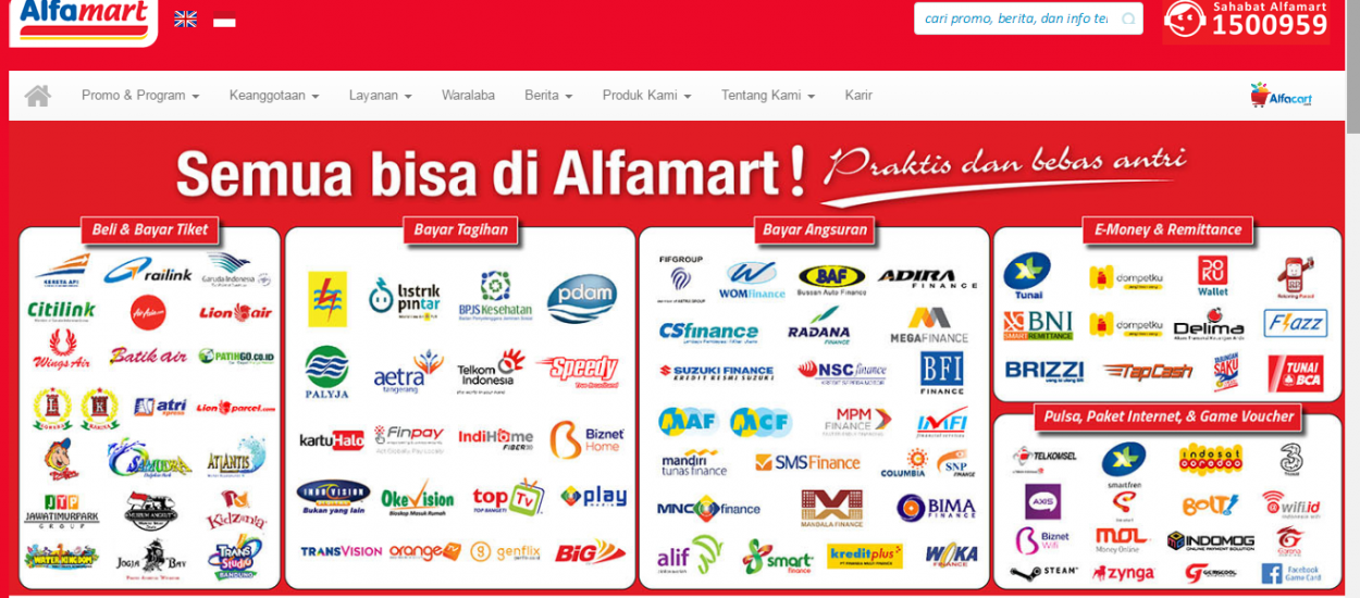 Dapatkan Informasi soal Promo, Layanan, Hingga Karir Lewat Website Resmi Alfamart