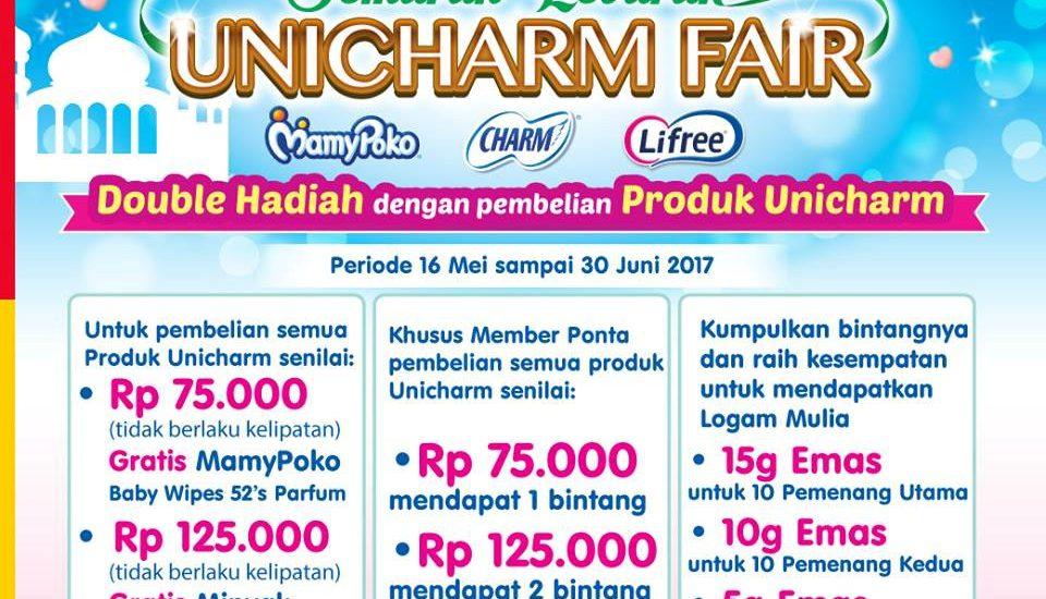 Banjir Hadiah Semarak Lebaran Unicharm Fair di Alfamart