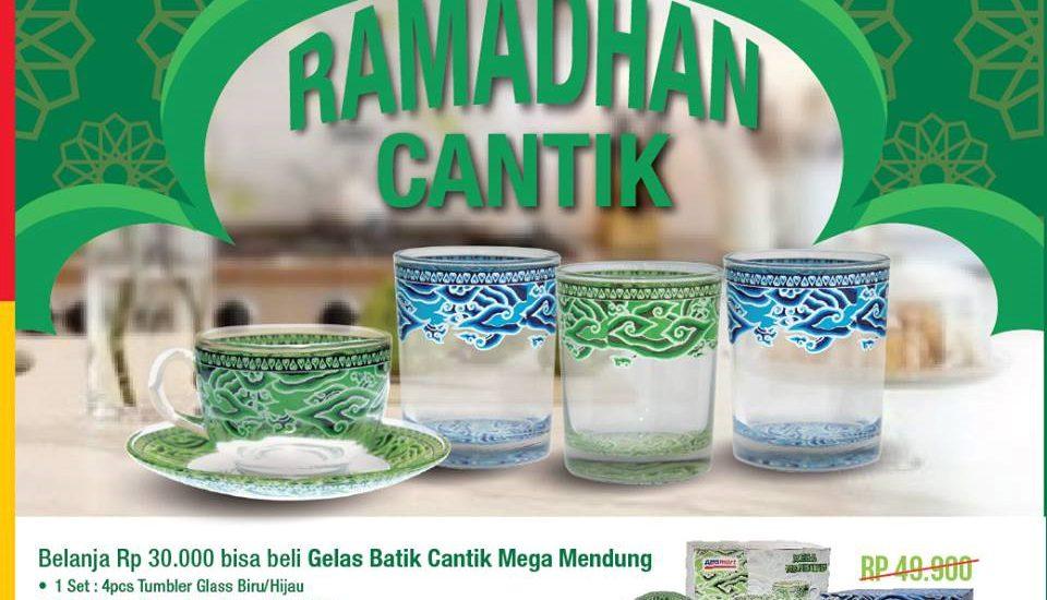 Dapatkan Gelas Batik Lewat Program Ramadhan Cantik Alfamart