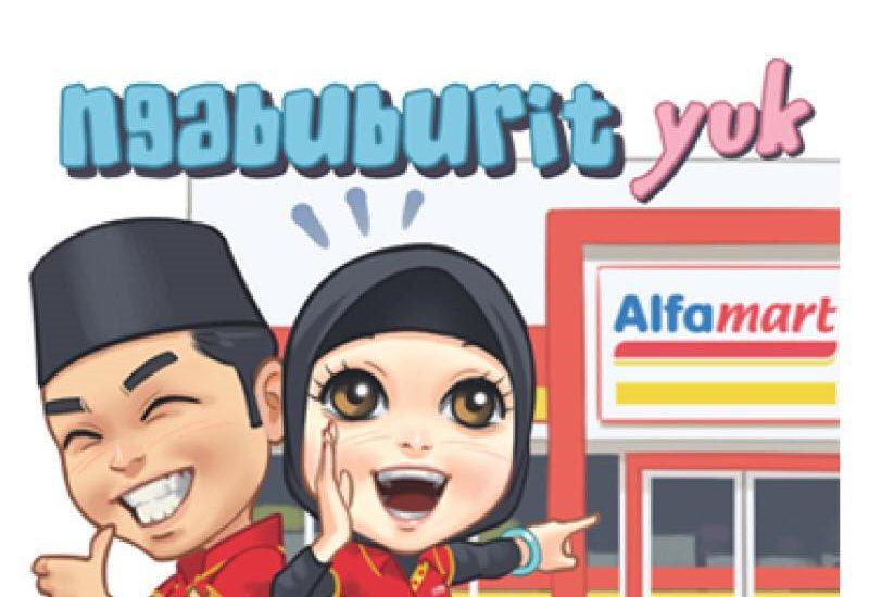Yuk, Download Stiker Ramadhan Line Alfamart Lucu