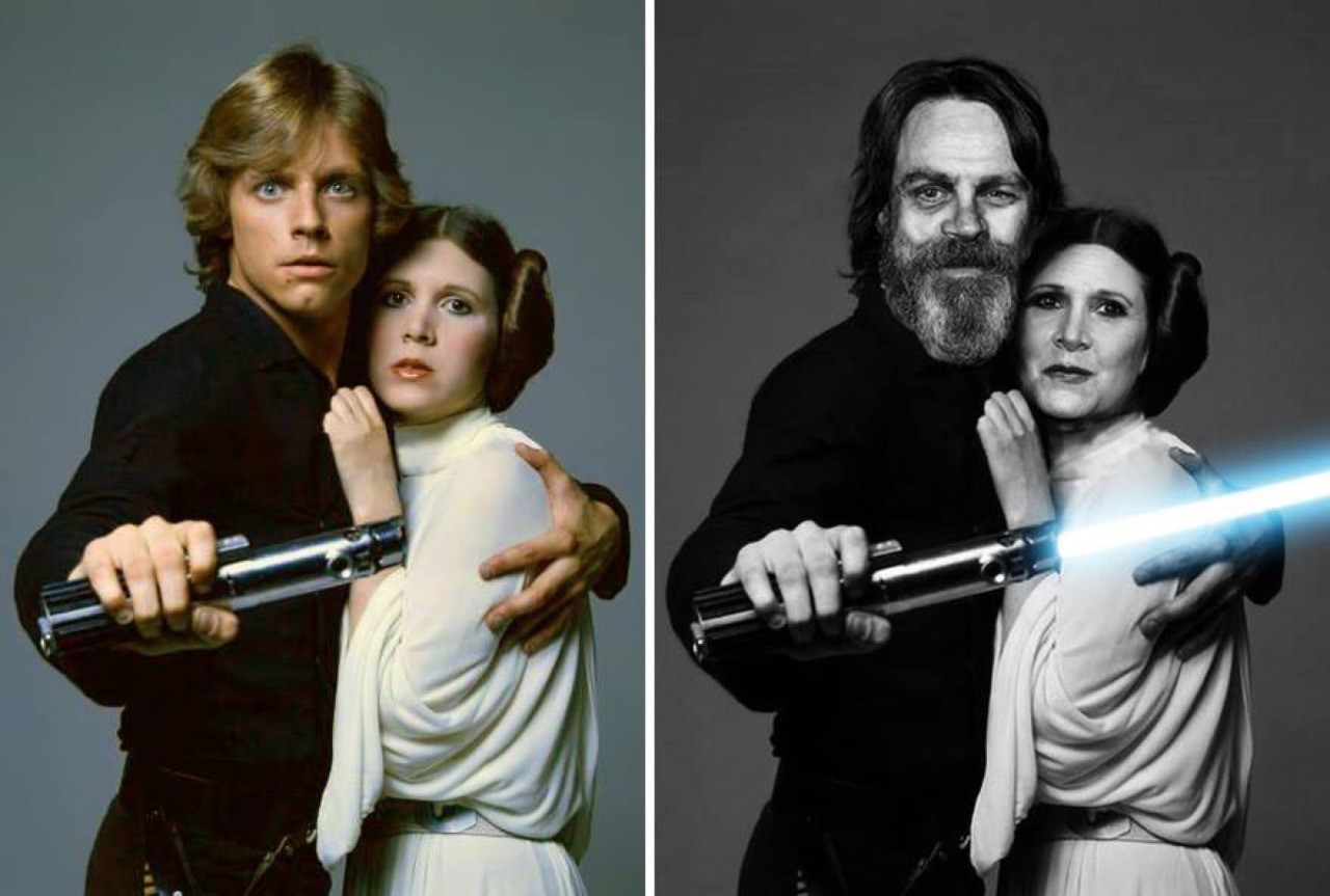 Luke Skywalker dan Princess Leia Star Wars