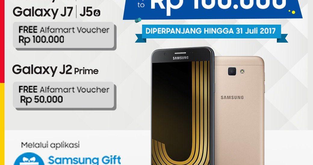 Beli HP Samsung Galaxy Berhadiah Voucher Alfamart
