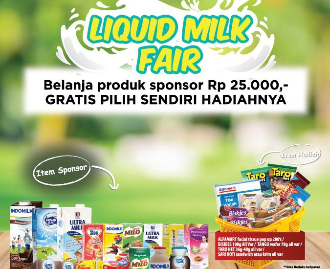 Ikuti Promo Beli Susu Berhadiah dan dapatkan Keuntungannya di Alfamart