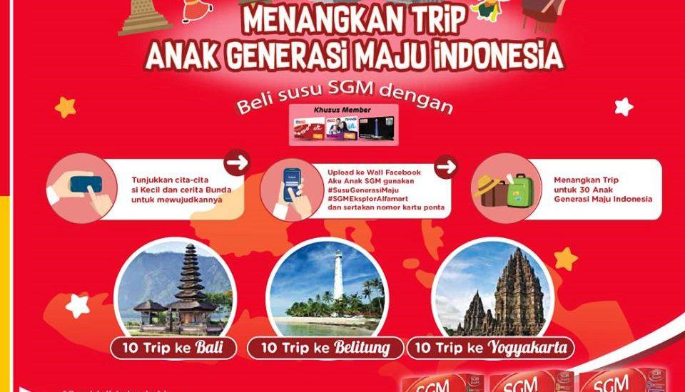 Jalan-jalan ke Daerah Indonesia Lewat Program  Trip Bareng Susu SGM