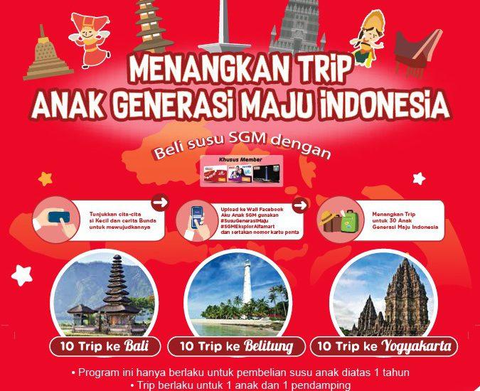 Menangkan Trip ke Daerah di Indonesia Lewat Promo Alfamart Susu SGM