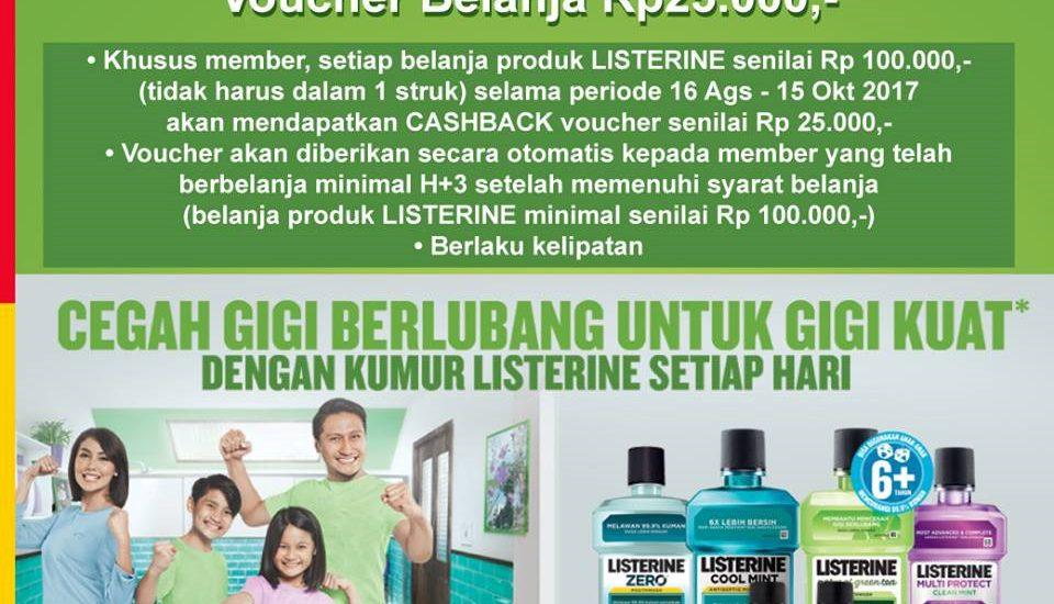 Beli Listerine, Bisa Dapat Cashback Listerine Voucher Belanja