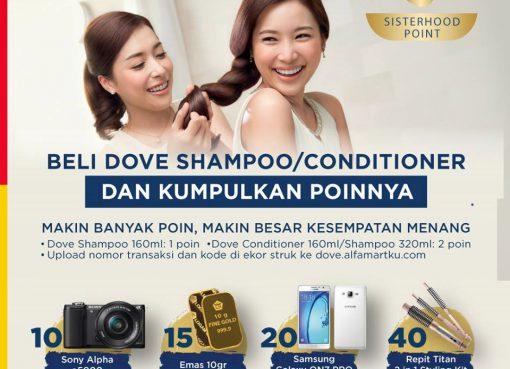 poin dove shampoo
