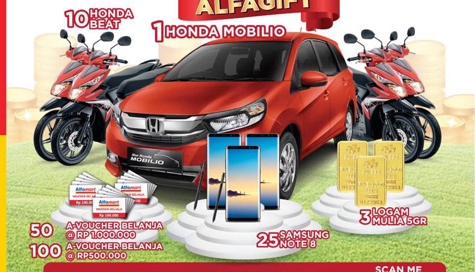 Raih Kesempatan Dapat Honda Mobilio dari Promo Alfagift