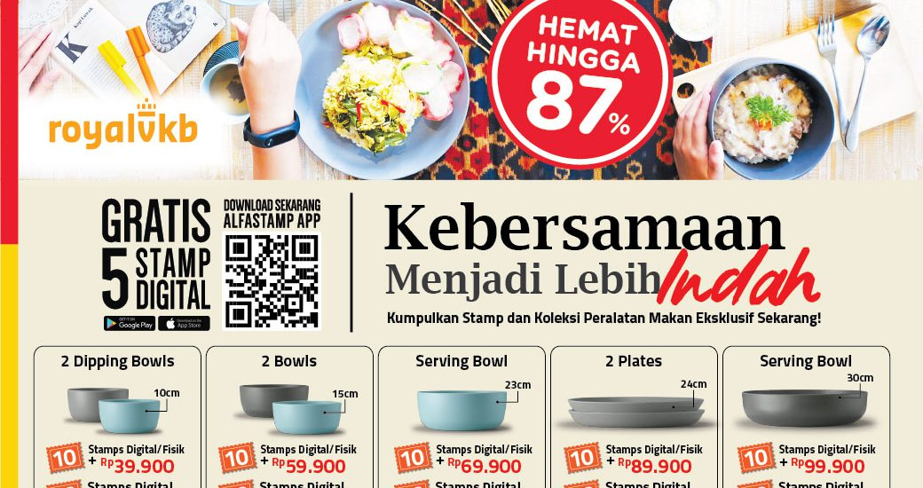 Ada yang Baru! Promo Peralatan Makan Alfamart dari Royal VKB
