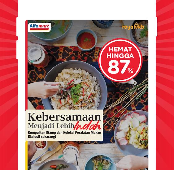 Dapatkan Peralatan Makan Royal VKB di Alfamart Lewat Aplikasi Alfastamp