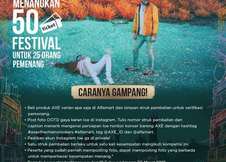Mau Tiket Konser The Chainsmoker di Jakarta? Buruan Ikutan Programnya Hanya di Alfamart